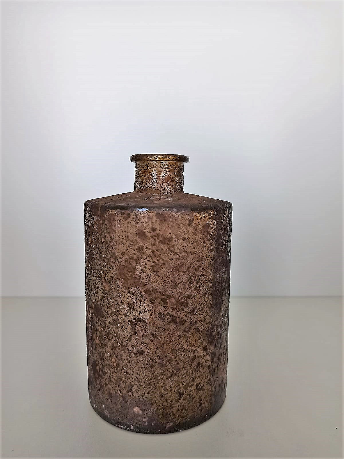 VASE RECYCLED GLASS BROWN 9X9X16CM