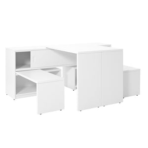 CUPBOARD UNIT PLAY AND STORE - WHITE