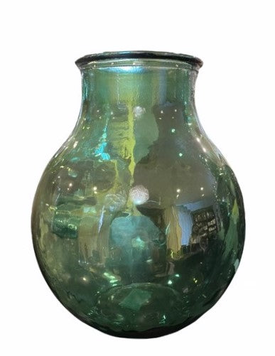 KERSTEN VASE RECYCLED GLASS BLUE