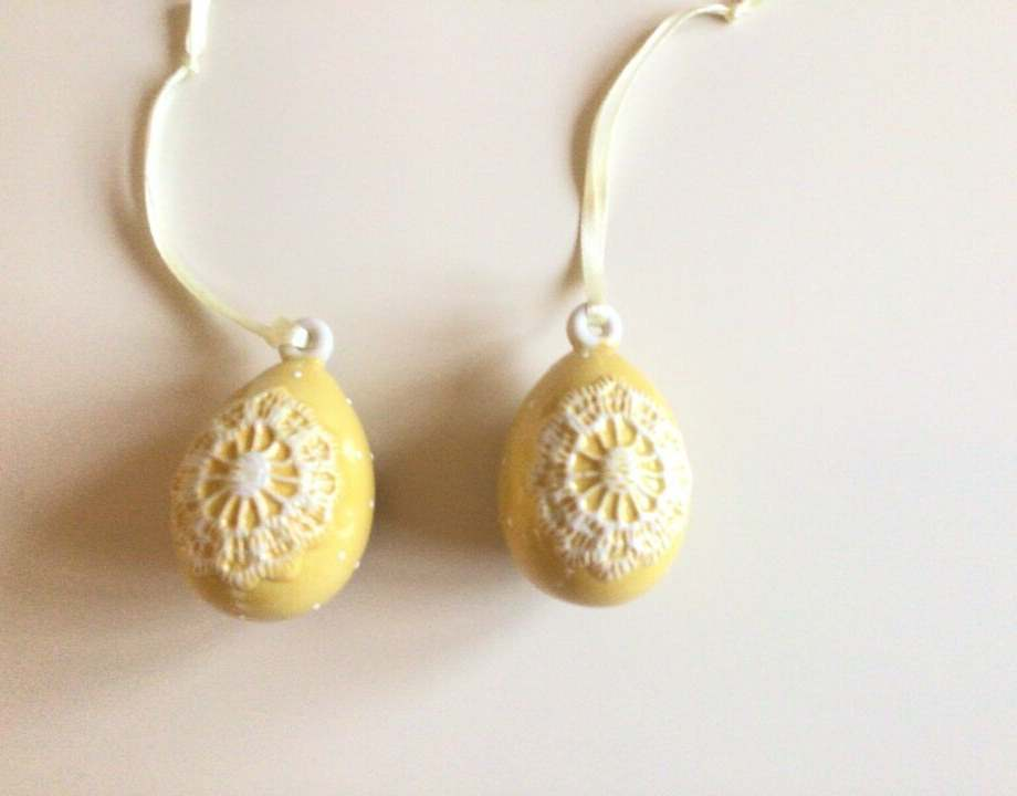 Spring Eggs - Eggs Small Yellow set 2pc