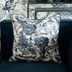 Load image into Gallery viewer, Toile Printed Pillow Cover 50x50 Riviéra Maison