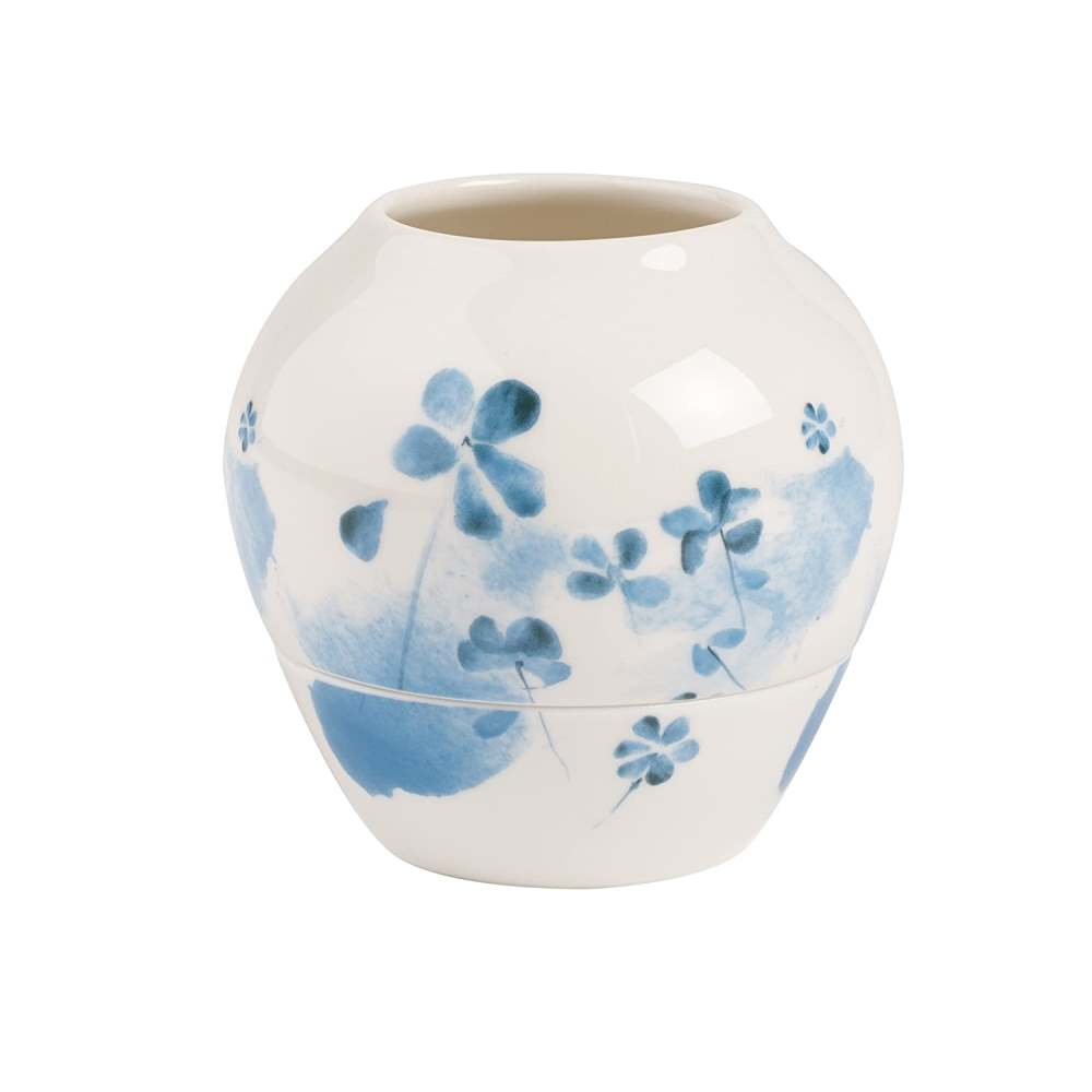 VILLEROY & BOCH LITTLE GALLERY VOTIVE BLUE BLOSSOM