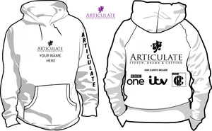 Articulate White Hoodie (Adult)