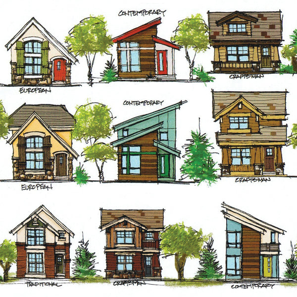 House-Plans-Architectural-Styles-Contemporary-Homes-Craftsman-Homes