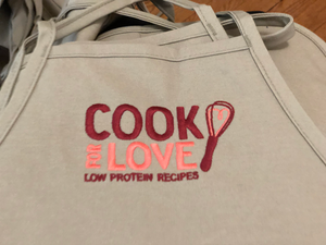 Cook for Love Embroidered Aprons