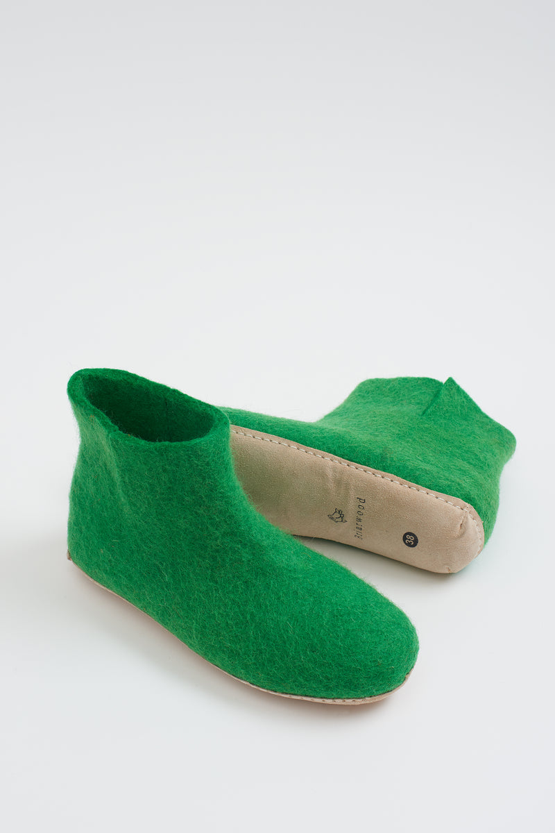 Briarwood felted wool slippers