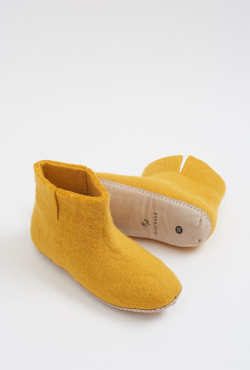 Briarwood felted wool booties