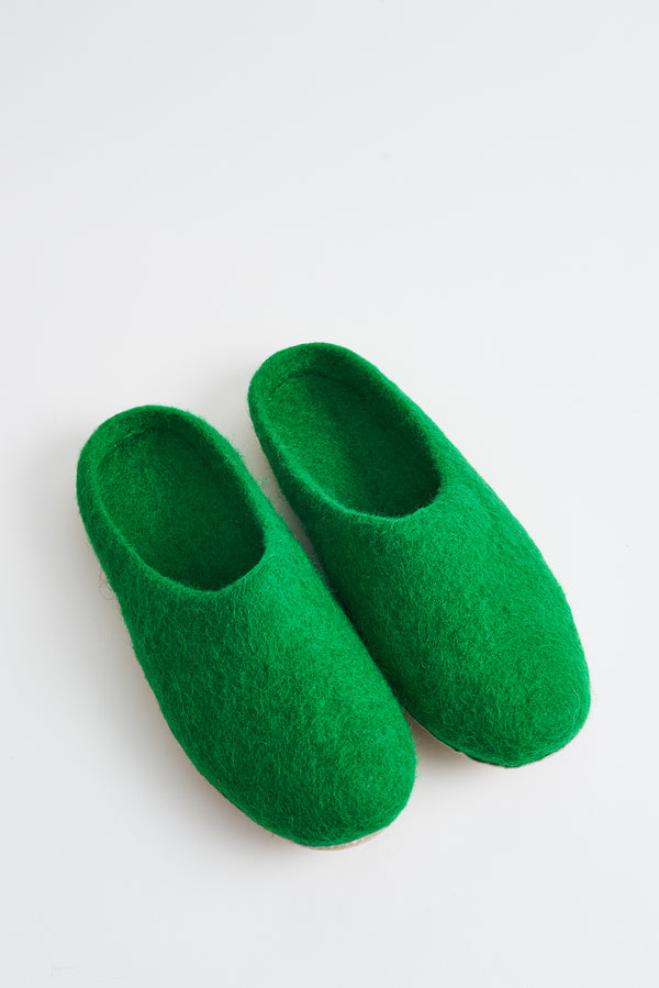 Briarwood green scuffy slippers