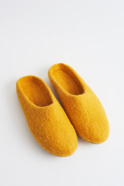 Briarwood mustard scuffy slippers