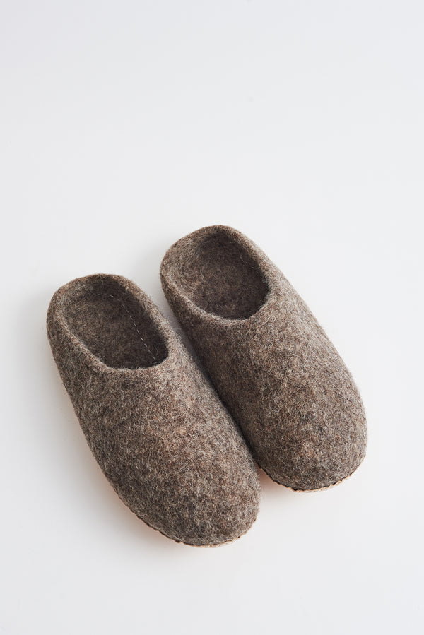 Briarwood natural marle scuffy slippers