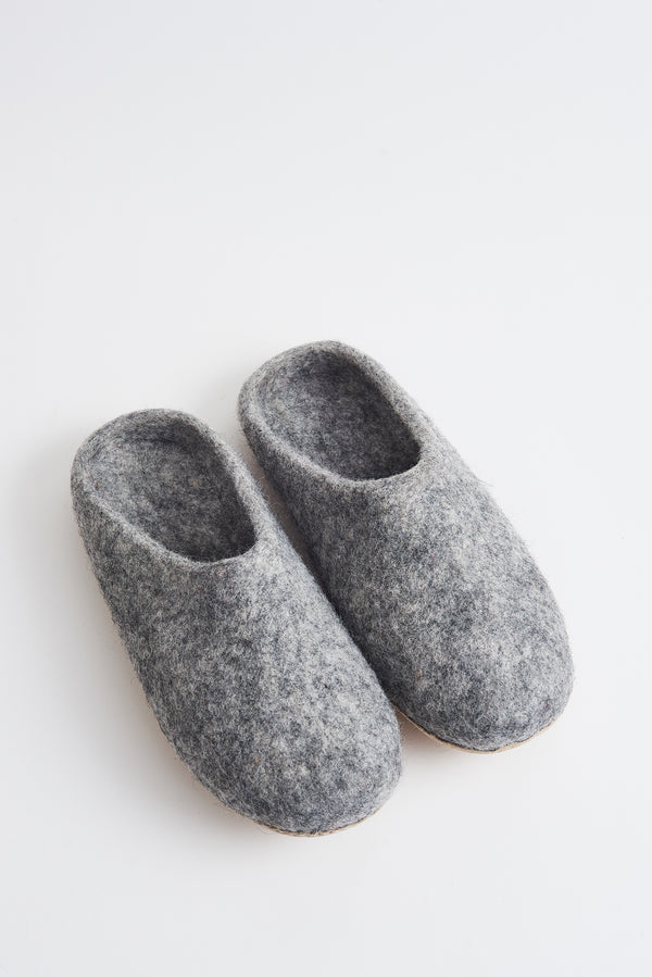 Briarwood grey marle scuffy slippers