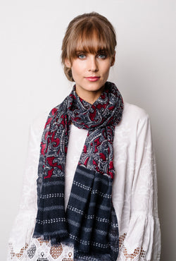 Briarwood long single wool scarf