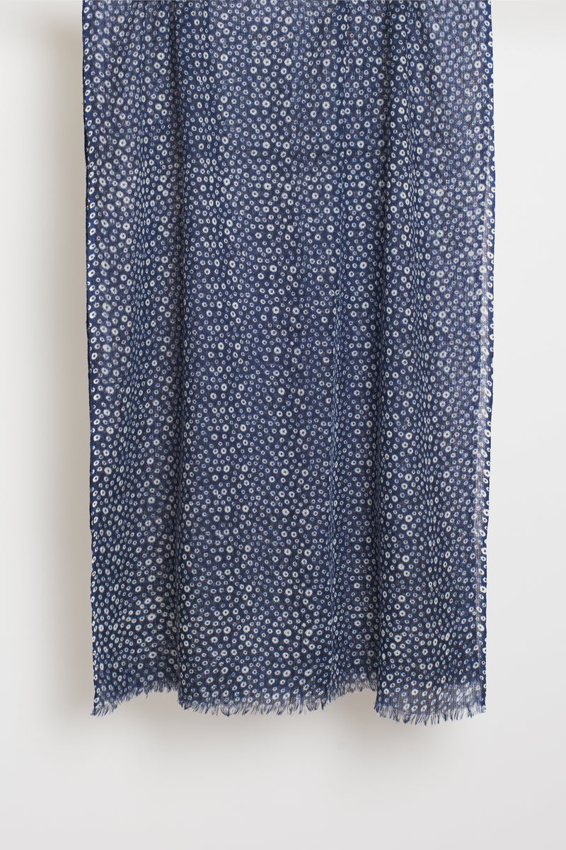 BLUE BUBBLE LONG SCARF
