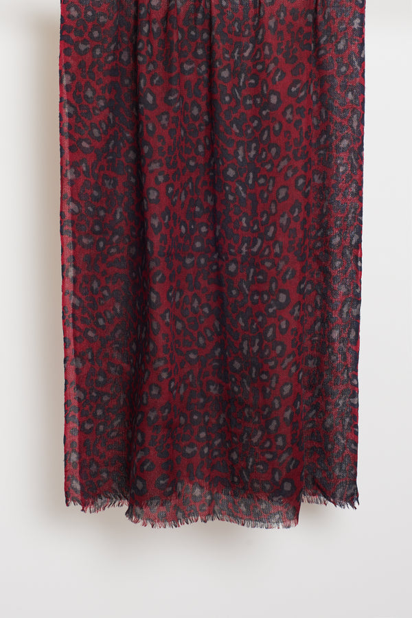 RED ANIMAL LONG SCARF