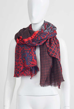 DARK RED LARGE SCARF