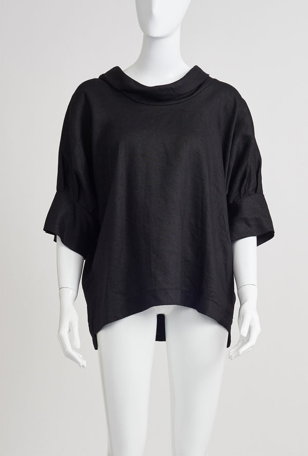 Briarwood Gloria black linen top