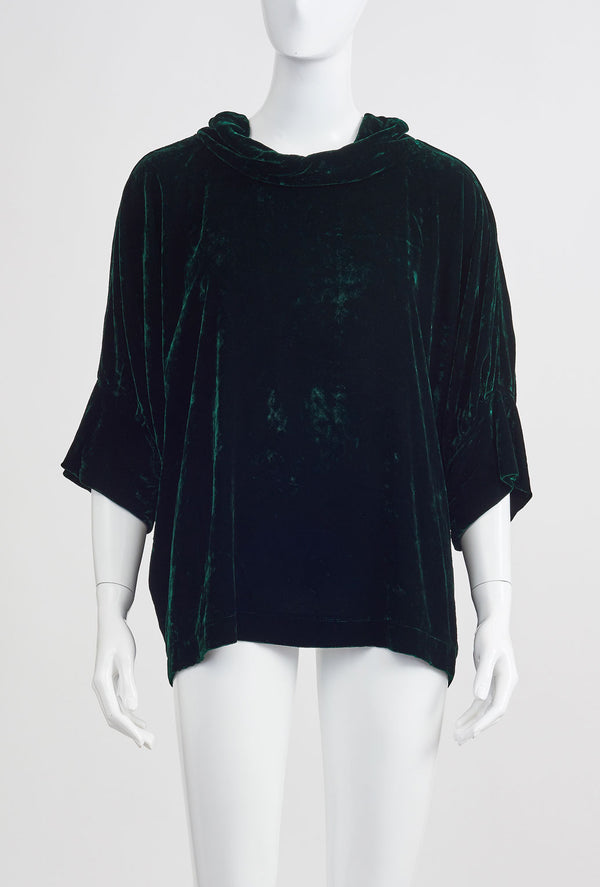 Briarwood Gloria velvet forest top