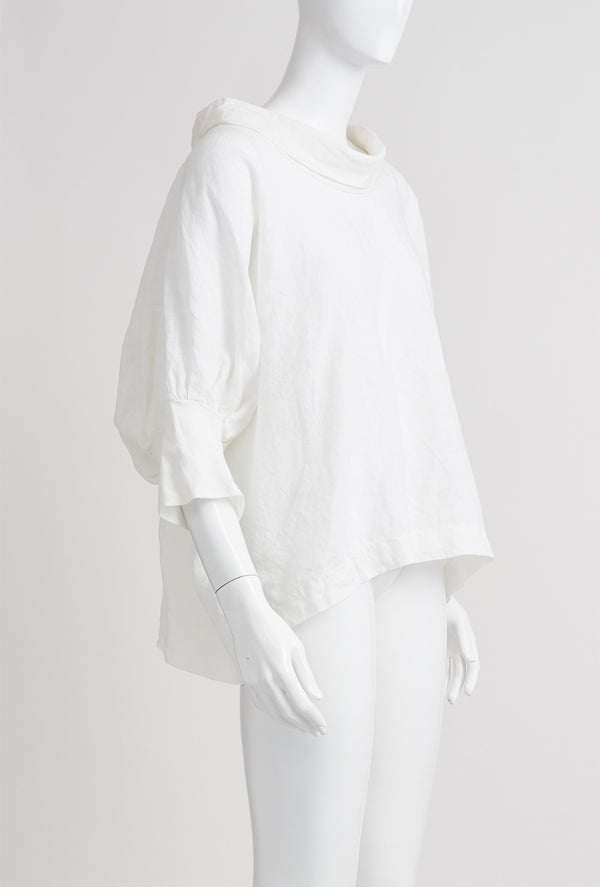Briarwood Gloria white linen drape top