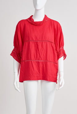 Briarwood Hallie linen top red