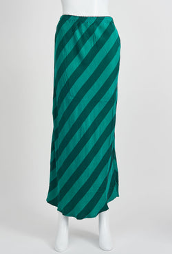 Briarwood Hattie striped skirt green