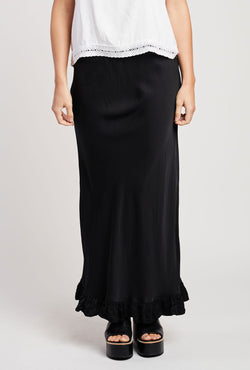 Briarwood Hattie black bias cut skirt