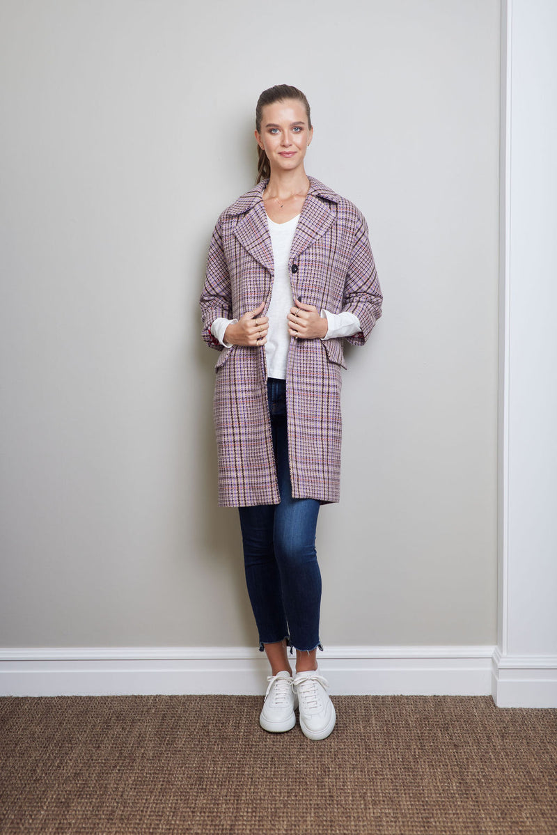 LORETTA LILIAC PLAID
