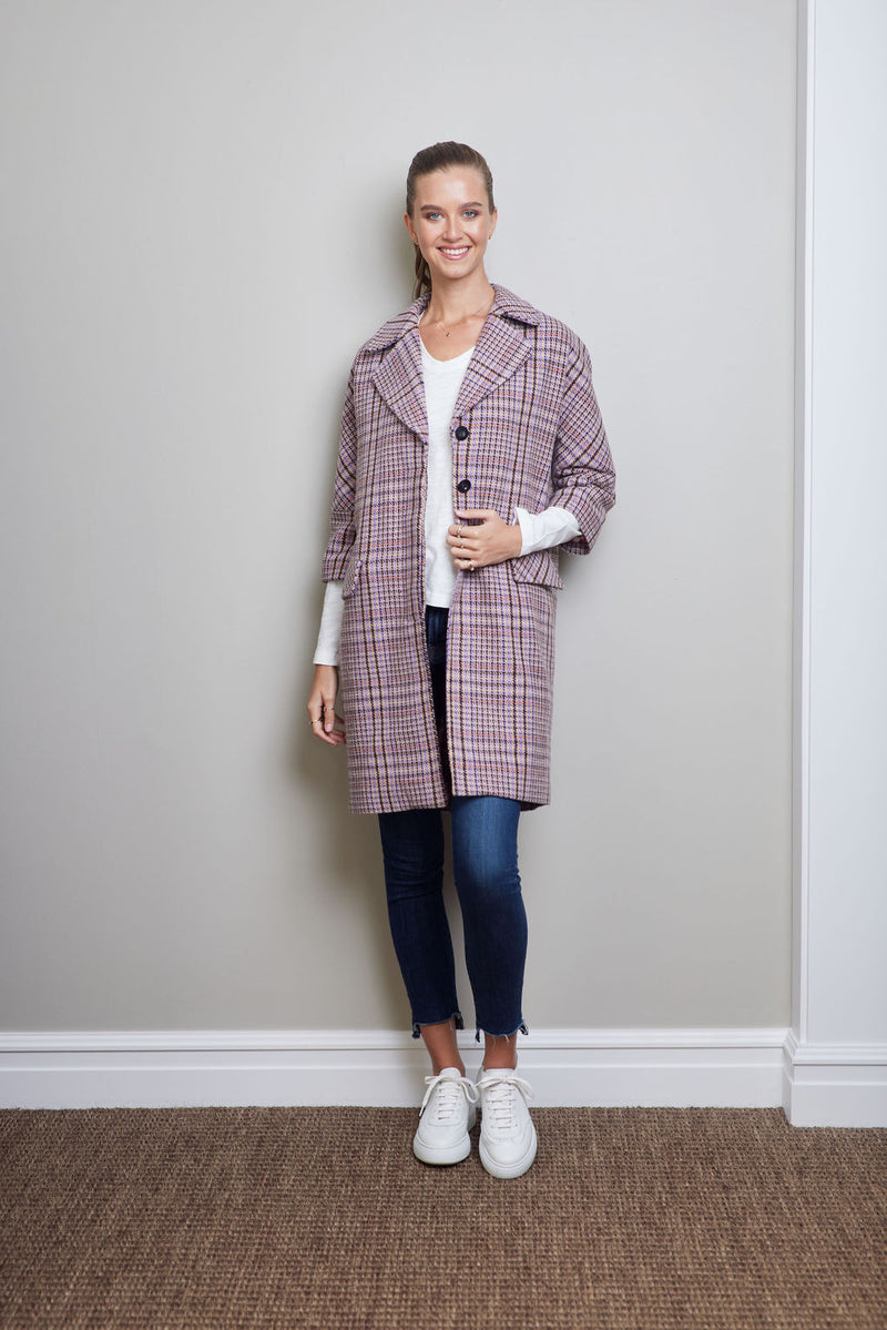 Briarwood Liliac plaid Loretta coat