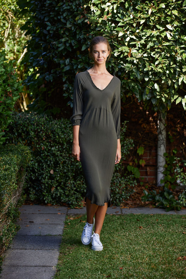 Briarwood Rita khaki dress