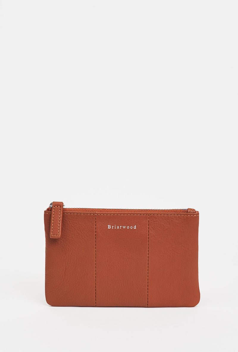 Briarwood small tan zippy pouch