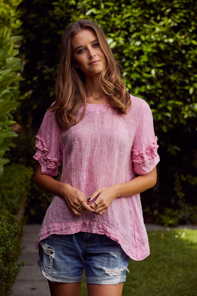 Briarwood Tiggy raspberry linen top