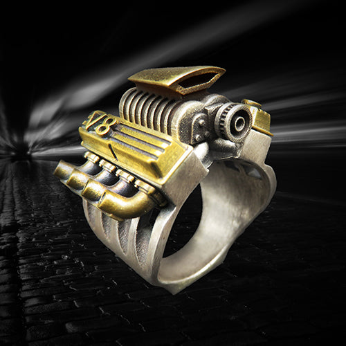 a ring representing the v8 compressor motor