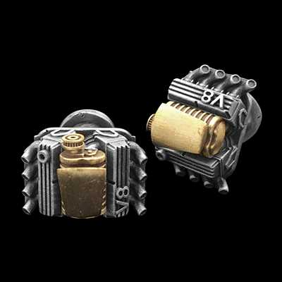 V8 compressor Cufflinks 2 colors
