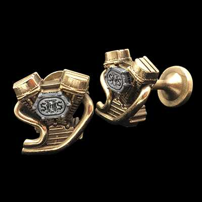 V-Twin 2 Saints Cufflinks 2 colors