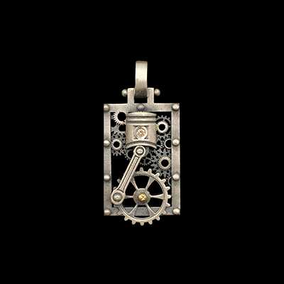 Large Square Piston Pendant 2 colors