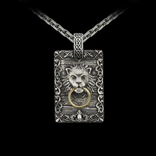 Card Lion Gate Pendant