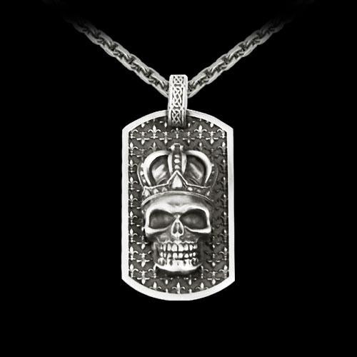King Dog Tag Pendant