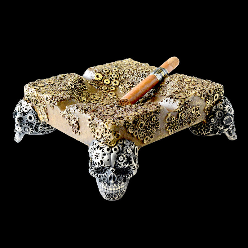 Gear Skull Vintage XL Ashtray