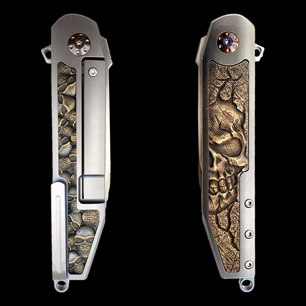 The Crow Custom One Skull Knife
