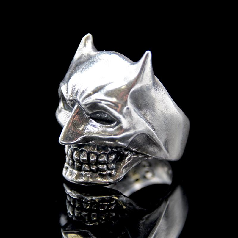 the bat skull ring silver 4