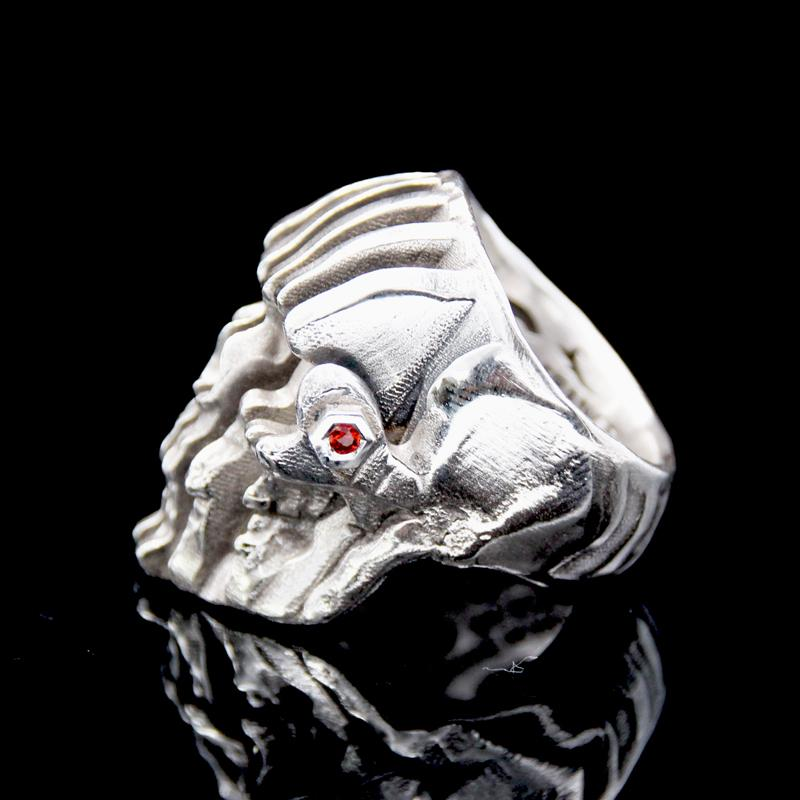 The Doppler Skull Ring silver 5