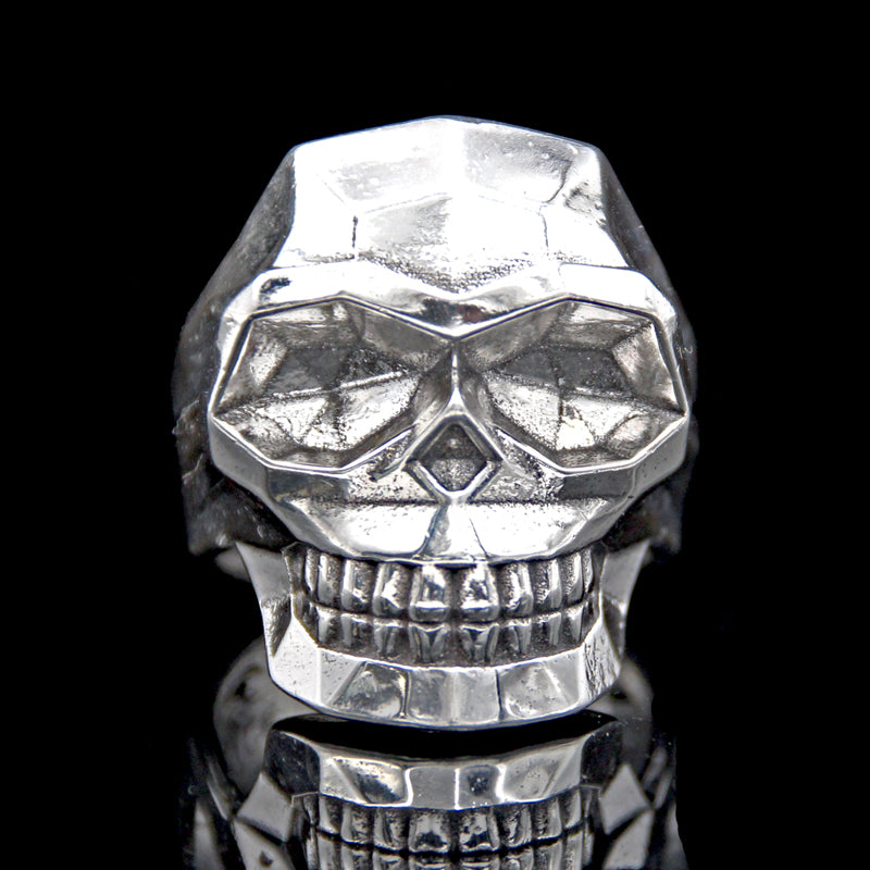 The Edge Skull Ring silver 2
