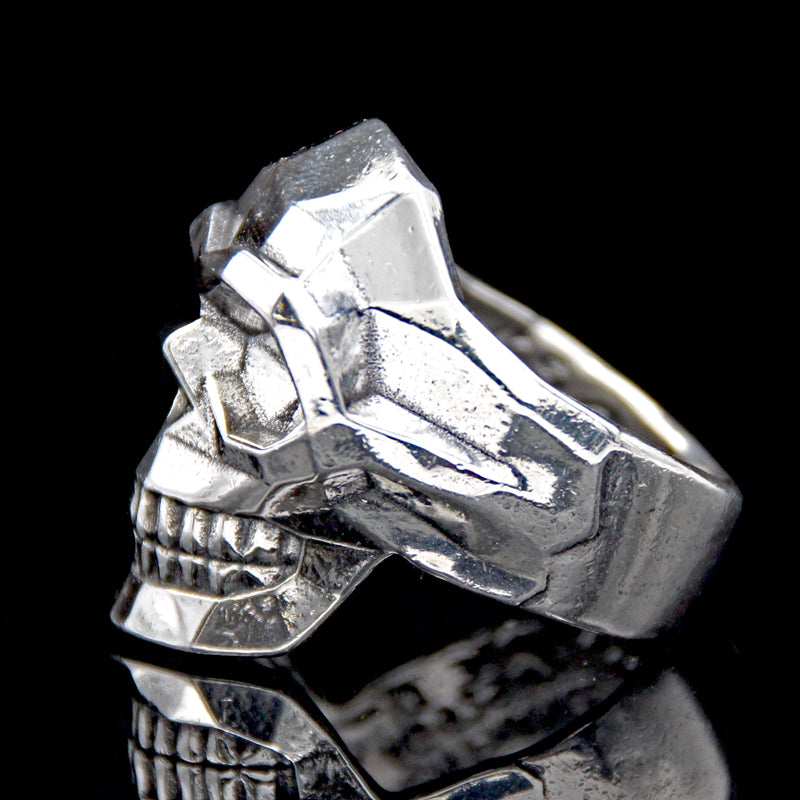 The Edge Skull Ring silver 3