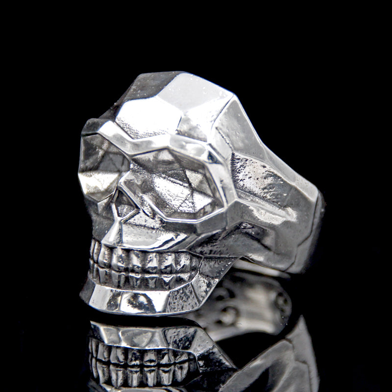 The Edge Skull Ring silver 4