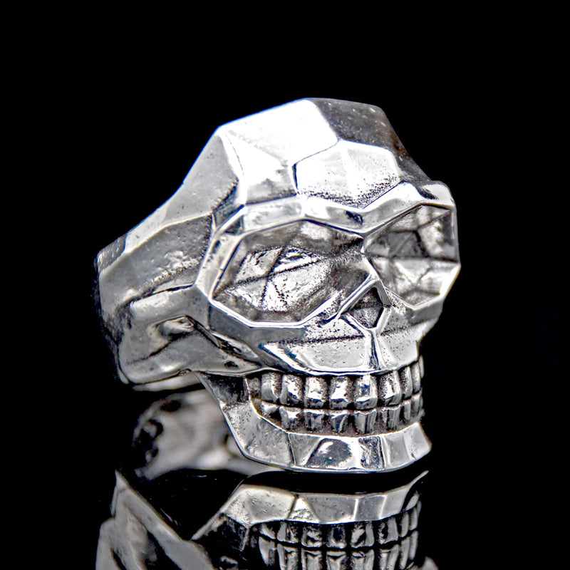 The Edge Skull Ring silver