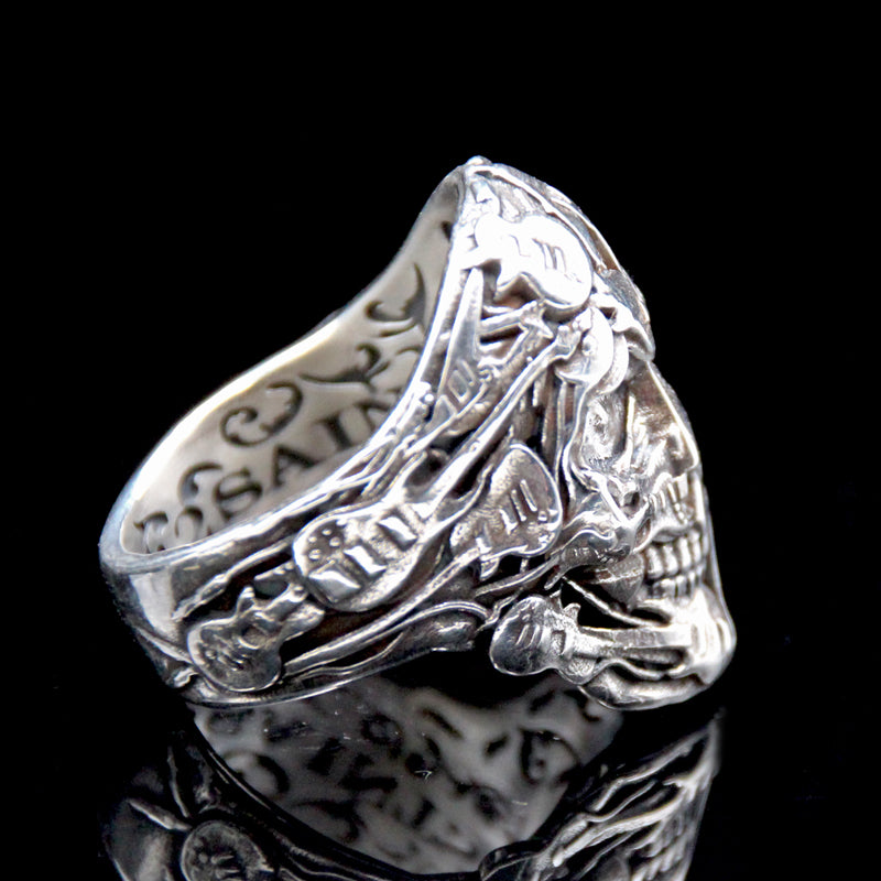 The Rocker Skull Ring 3 silver