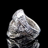 The Rocker Skull Ring 4 silver