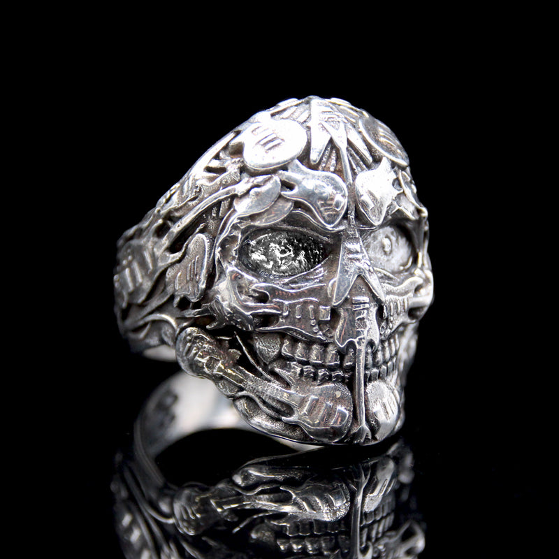 The Rocker Skull Ring silver