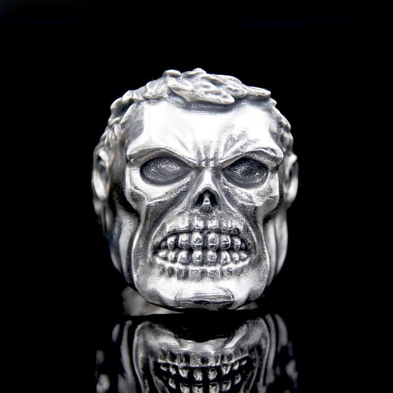 The Skhulk Skull Ring silver 2