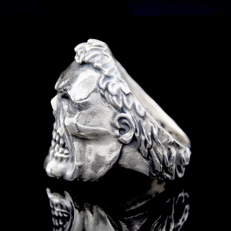 The Skhulk Skull Ring silver 3