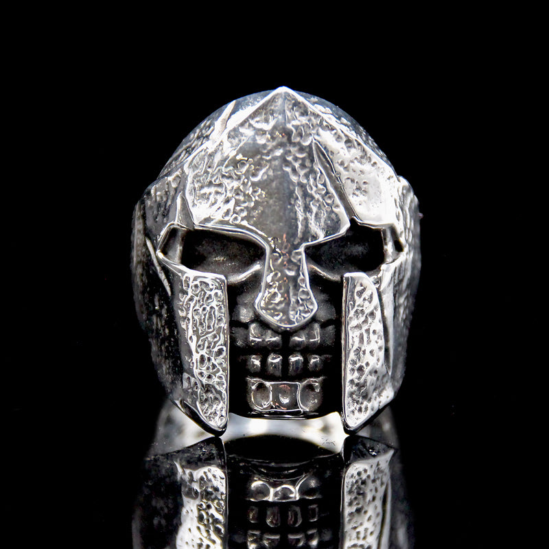 The Spartan Skull Ring silver 2